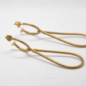 Σκουλαρίκια Δάκρυ Χρυσά