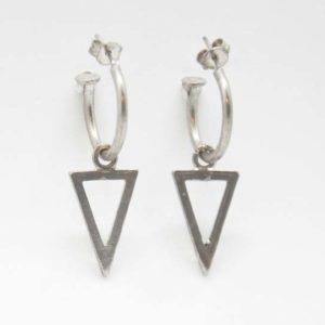 Σκουλαρίκια Κρικάκια Τριγωνάκι Ασημένια