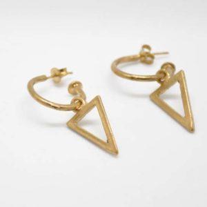 Σκουλαρίκια Κρικάκια Τριγωνάκι Χρυσά