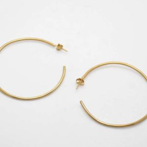 Σκουλαρίκια Κρίκοι Λεπτοί Χρυσοί