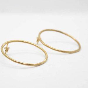 Σκουλαρίκια Κρίκοι Σφυρήλατοι Χρυσοί