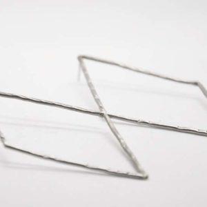 Σκουλαρίκια Ρόμβοι Ασημένιοι