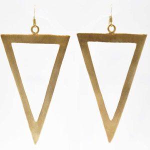 Σκουλαρίκια Τρίγωνα Μεγάλα Χρυσά