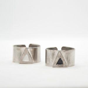 Rabilonga Δαχτυλίδι Φαρδύ Τρίγωνο Ασημένιο