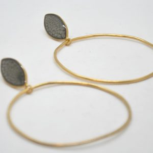 Toucan Σκουλαρίκια Κρίκοι Μεγάλοι Χρυσά