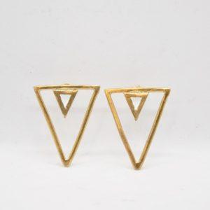 Rabilonga Σκουλαρίκια Boho Τρίγωνα Χρυσά