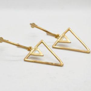 Rabilonga Σκουλαρίκια Boho Κρίκοι Τρίγωνα Χρυσά