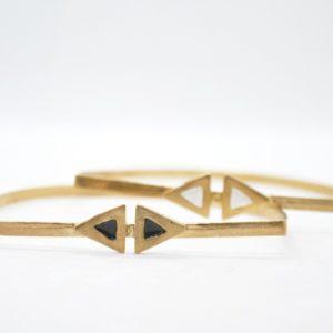 Rabilonga Βραχιόλι Boho Χειροπέδα Τρίγωνα Χρυσό