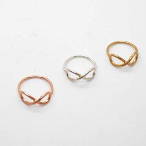 Δαχτυλίδι Άπειρο Ροζ-Χρυσό