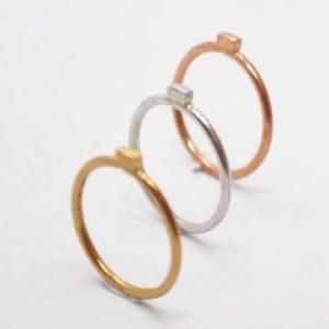 Δαχτυλίδι Βεράκι Ροζ-Χρυσό