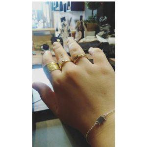 Δαχτυλίδι Βεράκι Με Μπίλια Χρυσό
