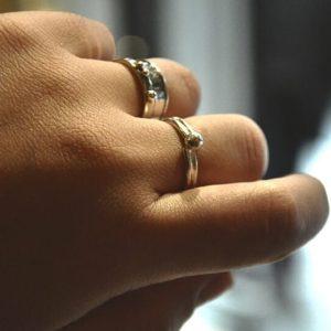 Δαχτυλίδι Διπλό Με Μπίλια Χρυσό