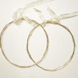 Στέφανα Γάμου Διπλά Με Μαργαριτάρια Ασημένια