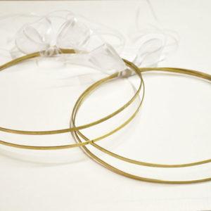 Στέφανα Γάμου Πλακέ Διπλά Χρυσά