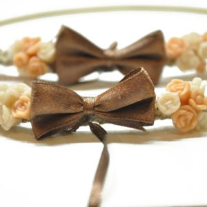 Boho Στέφανα Γάμου Πλακέ Με Λουλούδια Χρυσά