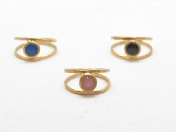 Δαχτυλίδι Διπλό Με Χρώμα Χρυσό
