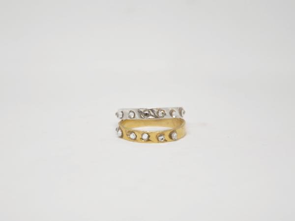 Δαχτυλίδι Βεράκι Με Swarovski Χρυσό