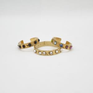 Σκουλαρίκι Μικρός Κρίκος Ασήμι 925 Χρυσό