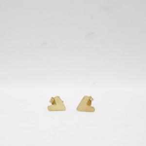 Σκουλαρίκια Καρδούλες Χρυσά