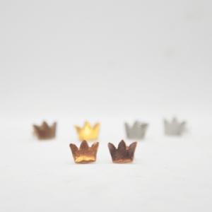 Σκουλαρίκια Κορώνες Ροζ Χρυσό