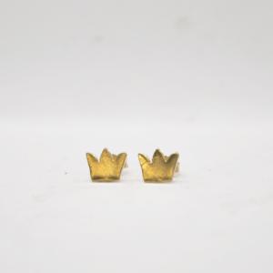 Σκουλαρίκια Κορώνες Χρυσά