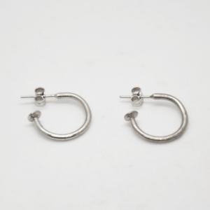 Σκουλαρίκια Μικρά Κρικάκια Ασημένια