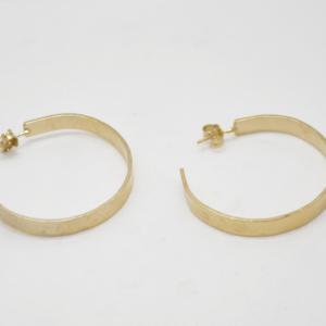 Σκουλαρίκια Κρικάκια Σφυρήλατα Χρυσά