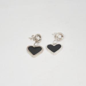 Σκουλαρίκια Καρδιές Ασημένια