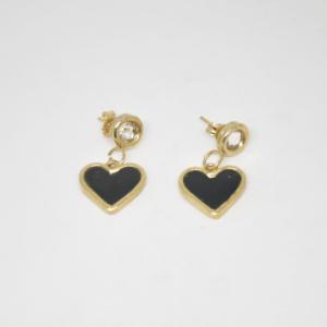 Σκουλαρίκια Καρδιές Χρυσά
