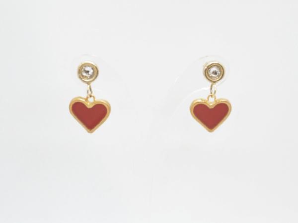 Σκουλαρίκια Καρδιές Χρυσά Ασήμι 925