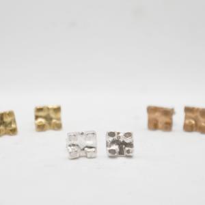 Brick Σκουλαρίκια Ασημένια