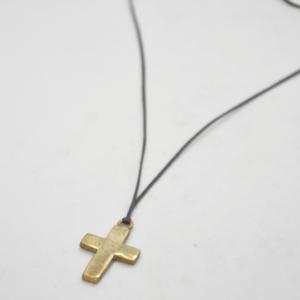 Κολιέ Σταυρός Πλακέ Χρυσός