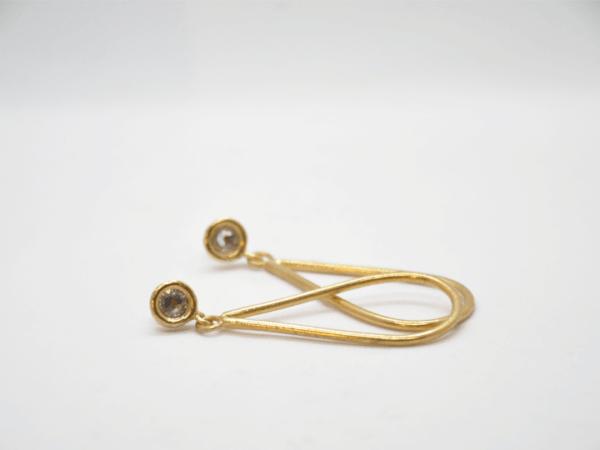 Σκουλαρίκια δάκρυ με Swarovski Χρυσά