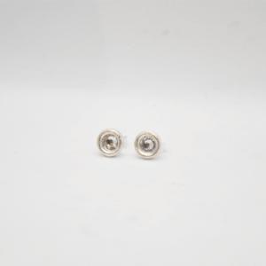 Σκουλαρίκια μικρά με Swarovski Ασημένια
