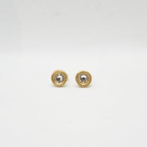 Σκουλαρίκια μικρά με Swarovski Χρυσά