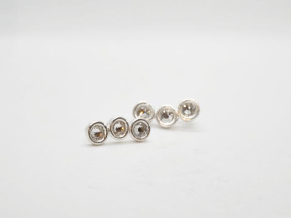 Σκουλαρίκια Με Swarovski Ασημένια