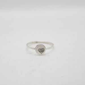 Δαχτυλίδι Βεράκι Με Καρδιά Ασημένιο