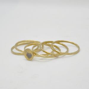 Δαχτυλίδια Βεράκια Με Καρδιά Χρυσά