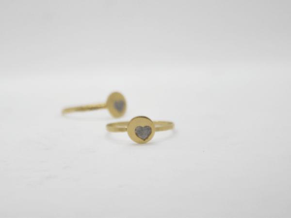 Δαχτυλίδι Βεράκι Με Καρδιά Χρυσό