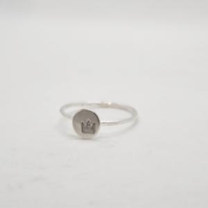 Δαχτυλίδι Βεράκι Με Κορώνα Ασημένιο