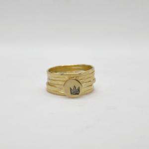 Δαχτυλίδια Βεράκια Με Κορώνα Χρυσά