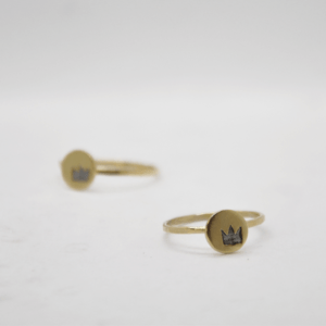 Δαχτυλίδι Βεράκι Με Κορώνα Χρυσό