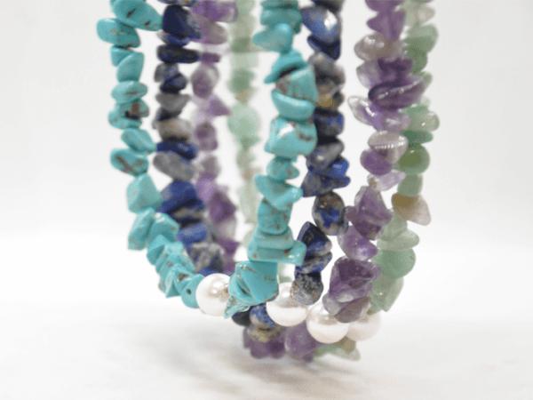 Κολιέ Με Διάφορες Πέτρες Και Μαργαριτάρι