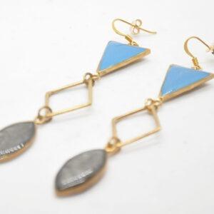 Toucan Boho Σκουλαρίκια Τρίγωνα Χρυσά
