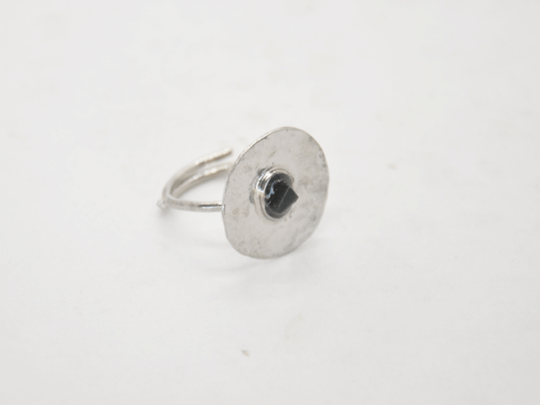 Gouldian Δαχτυλίδι Με Φλουρί Και Πέτρα Ασημένιο