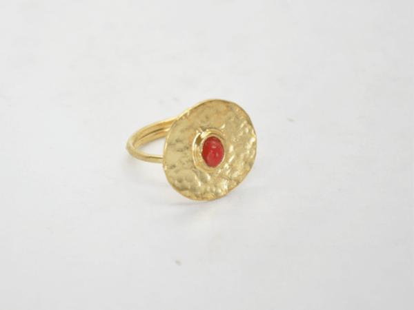Gouldian Δαχτυλίδι Με Φλουρί Και Πέτρα Χρυσό