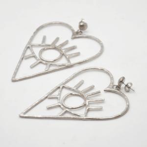 Barn Σκουλαρίκια Καρδιές Ασημένια