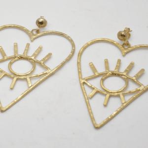 Barn Σκουλαρίκια Καρδιές Χρυσά
