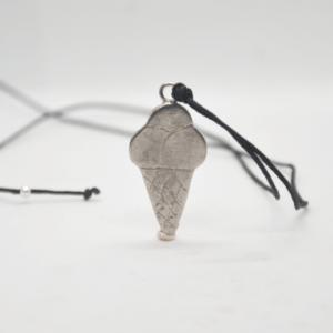 Κολιέ Παγωτό Ασημένιο