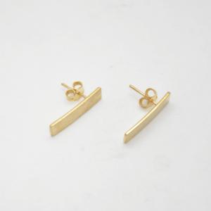 Minimal Σκουλαρίκια Ίσια Mατ Κοντά Χρυσά